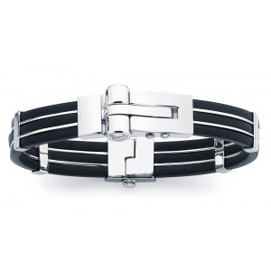 Bracelet homme acier et résine