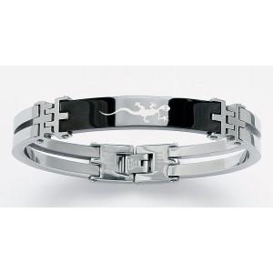 Bracelet résine et acier motif Serpent