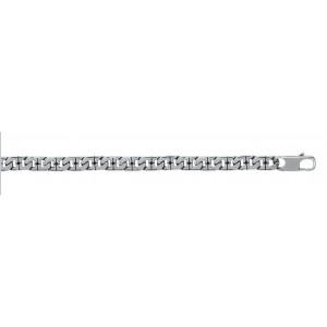Bracelet homme maille fantaisie en acier