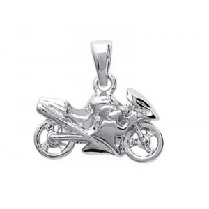 Pendentif moto en argent 925