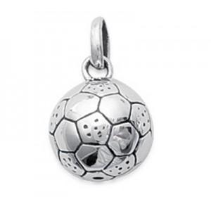 Pendentif ballon de foot en argent 925
