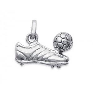 Pendentif chaussure de foot en argent 925