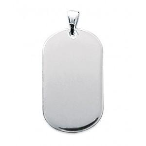 Pendentif plaque ovale petit modèle en argent 925