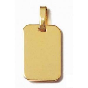 Pendentif plaque rectangle petit modèle en plaqué or