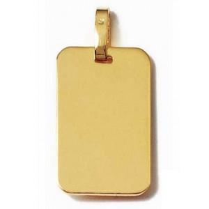 Pendentif plaque rectangle moyen modèle en plaqué or