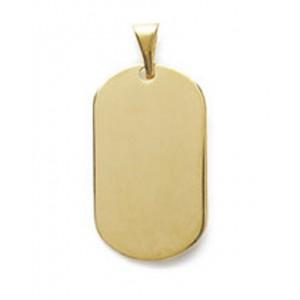 Pendentif plaque ovale petit modèle en plaqué or